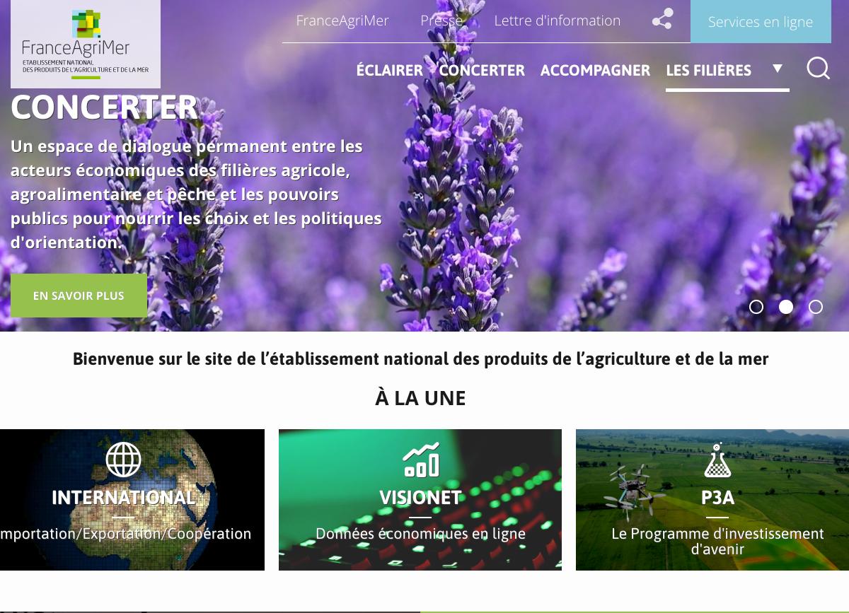 Maintenance évolutive et corrective du site FranceAgriMer