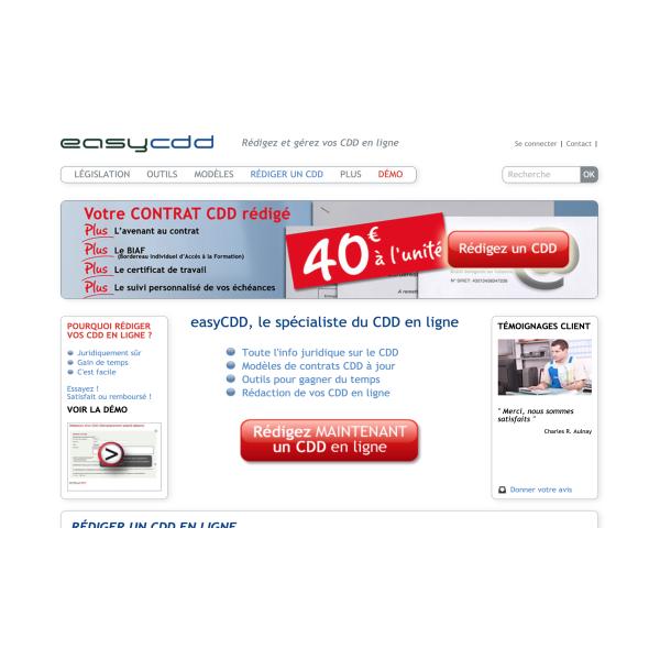 Refonte du site easycdd.com sur eZ Platform