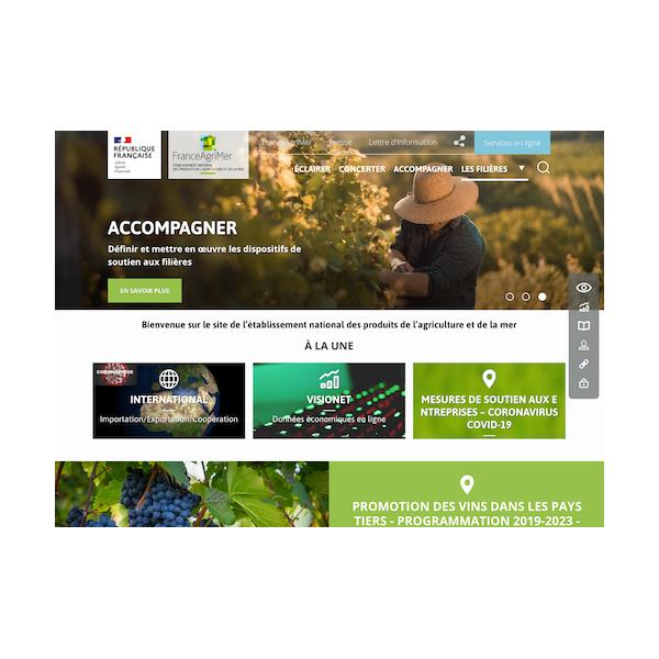 Migration et refonte graphique du site de FranceAgriMer