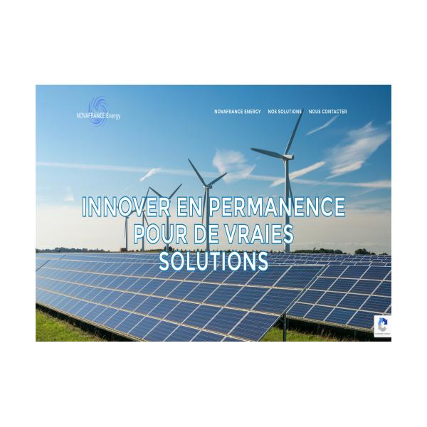 Site internet NovaFrance Energy
